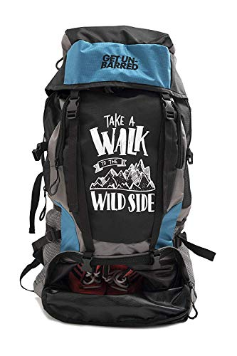Mufubu Presents Get Unbarred 55 LTR Rucksack for Trekking, Hiking with Shoe Compartment...