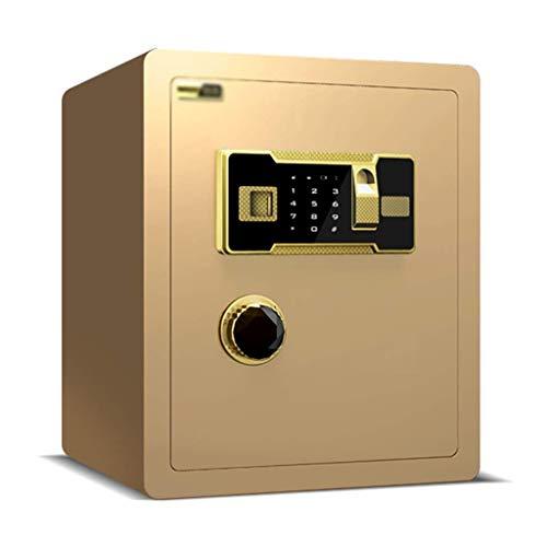 XiYou Caja Fuerte de Seguridad, hogar Invisible Junto a la Cama, Armario de Seguridad, Pared, Oficina, Huella Digital, contraseña, Acero (marrón, 36 * 30 * 40 cm)