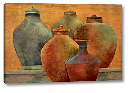 "Portofino Veranda by Tava Studios - 13"" x 20"" Canvas Art Print Gallery Wrapped - Ready to Hang"