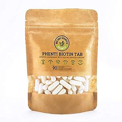 DSO - Phenti Biotin Tab - Appetite Control and Weight Support - Natural Formula - Vitamin C 400mg, B1, B2, B6, B12, Biotin, Folic Acid - Doctor Design - Bio-Friendly Pack 90ct