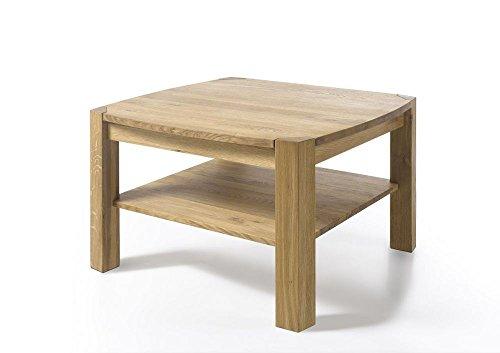 Beauty.Scouts Couchtisch Montreal - Tisch, Couchtisch, Beistelltisch, Fernsehtisch, Massivholz, Kernbuche oder Asteiche, geölt, 83x55x83, 40 kg Farbe Asteiche