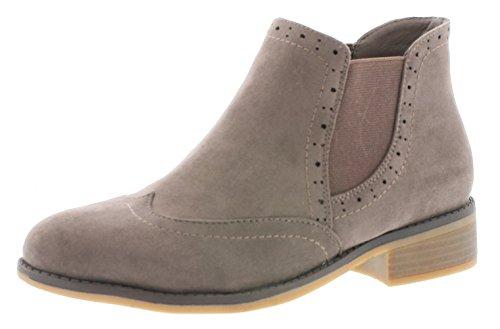 Rieker X9763 Damen Stiefel, Boots, Schlupfstiefel, Stiefelette beige (Fango / 64), EU 40