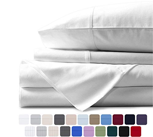 600TC EGYPTIAN COTTON DEEP PKT SHEET SET,DUVET SET WHITE SOLID Queen//King//Twin