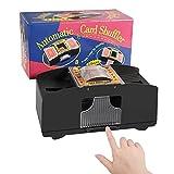 Bingfone Automatic Card Shuffler 1-2 Deck, Electric Playing Card Shuffler,Classic Poker Shuffler for Family Party Travel Card Game