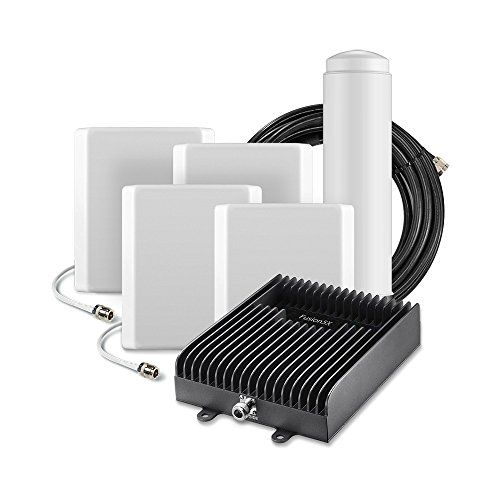 SureCall Fusion5X Cell Phone Signal Booster - Outdoor Omni and 4 Indoor Panel Antennas
