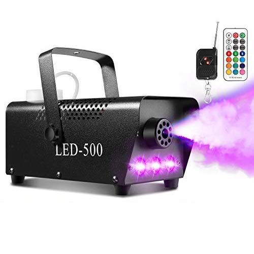 Upgraded Fog Machine, AGPtEK Smoke Machine with 13 Colorful LED Lights and...