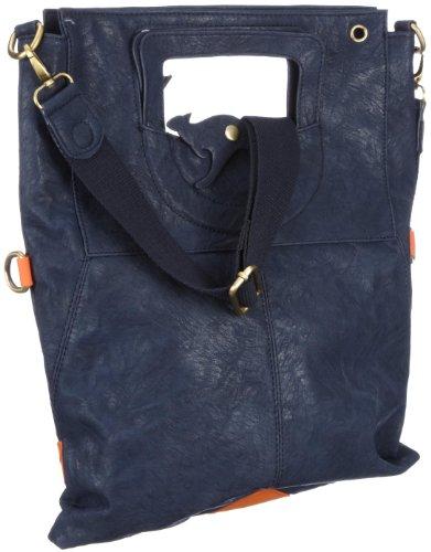 KangaROOS JEAN cliffhanger bag (set) B0171 Damen Umhängetaschen 32x40x3 cm (B x H x T), Blau (dark petrol 486 486)