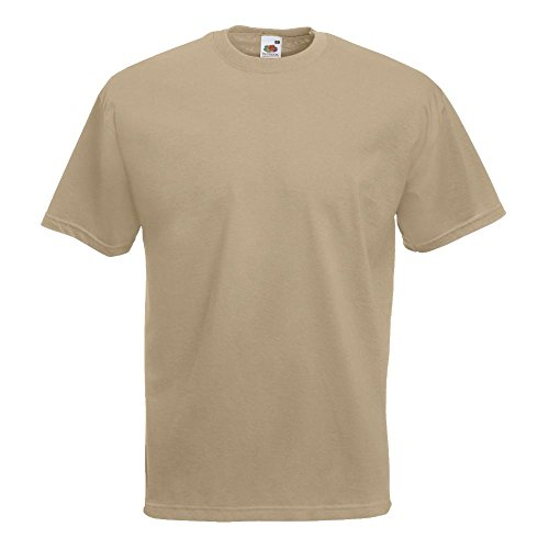 Fruit of the Loom - Classic T-Shirt 'Value Weight' L,Khaki