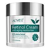 Anti-Aging Retinol Creme für Gesicht, Hals und Dekolleté - mit Hyaluronsäure, Aktivem Retinol 2,5% und Vitamin E, Anti-Falten und Reduzierung Feiner Linien, Beste Tag und Nacht Feuchtigkeitscreme
