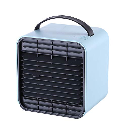 Luchtbevochtiger, Purifier met USB, Portable Air Cooler, Mini Air Conditioner, Desktop koelventilator voor huis, kamer, Office,Blue