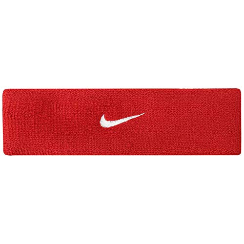 Nike Dri-Fit Home & Away Headband (One Size Fits Most, Varsity Red/White)