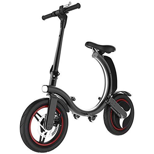 D&XQX Bicicleta eléctrica, Urban Plegable de cercanías E-Bici, Velocidad máxima 32 kilometros/h,...