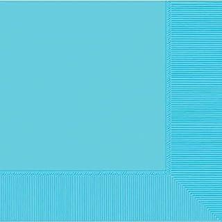 amscan International Serviettes en Papier Motif Caraïbes, Bleu, Lot de 50