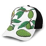 Gorra de béisbol de bajo perfil ajustable para hombre y mujer, diseño de frutas exóticas para colgar en ramas del árbol
