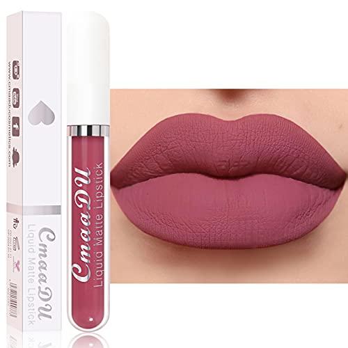 Matte Liquid Lipstick, Stain Lipstick Velvet Lip Gloss, Nude...