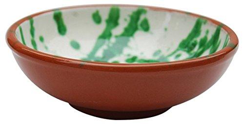 Amazing Cookware Bol 12 cm 'Splatter' Tapas en Terre Cuite – Vert, en CÉRAMIQUE, crème et Vert, 12 cm, 12 x 12 x 4.5 cm