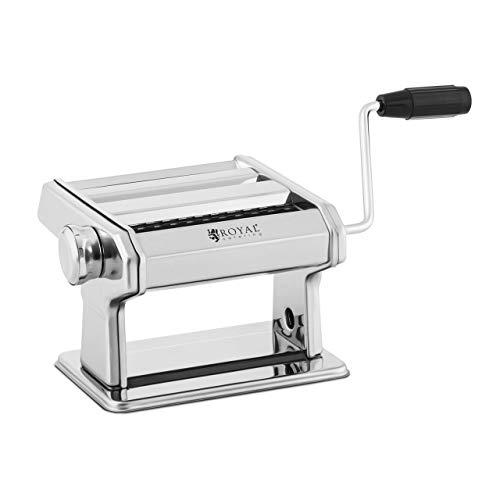 Royal Catering RC-PM150Z Nudelmaschine manuell 14 cm Pastamaschine 0,5-3 mm Nudeln Fettuccine Pastamaker