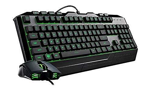 Cooler Master Devastator 3 Combo Mouse e Tastiera Gaming - Switch a Membrana con Retroilluminazione LED a 7 Colori, Tasti Multimediali Dedicati e Poggiapolsi - Mouse da Gaming MM110 - Layout QWERTY IT
