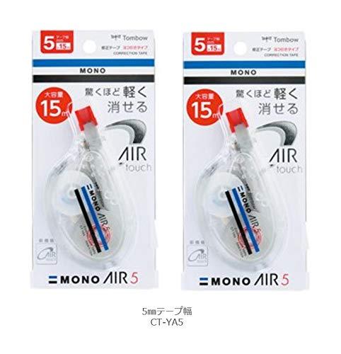 トンボ鉛筆 修正テープ モノエアーヨコ引きタイプ5 5mm CT-YA5 2個組み