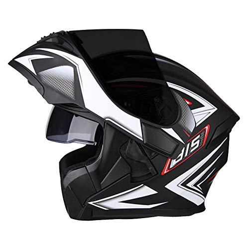Ra Helmet Casco Modular De Motocicleta,Voltear hacia Arriba Casco Blue