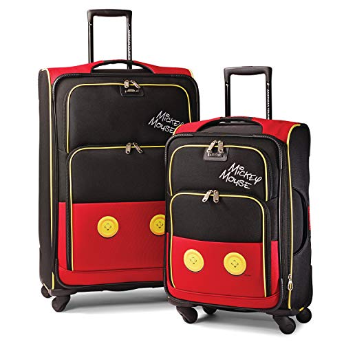 American Tourister Disney Softside Luggage with Spinner Wheels, Mickey Mouse Pants, 2-Piece Set (21/28)