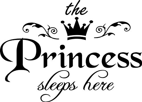 ADECNS The Princess Sleeps Here Wall Decal Removable Wall Sticker for Home Decor157#039#039x96#039#039