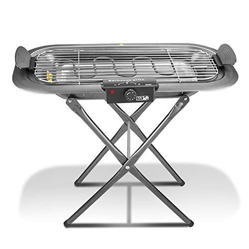 BUTTERFLYSILK Tischgrill Elektrisch Drinnen Grill 5 Verstellbare Temperatur Das Geteilte Design ist leicht zu reinigen zum Grillen im Haus auf Dem Balkon Oder im Garten 2000W 220V