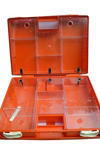 Erste Hilfe Koffer zur Wandmontage inkl. Befestigungsmaterial und Beatmungshilfe (leer,