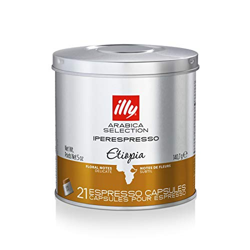 illy koffie, koffiecapsules Iperespresso Arabica Selection Ethiopië - 1 blik met 21 koffiecapsules