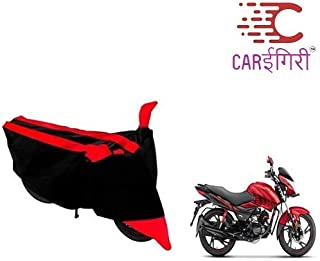 Carigiri Bike Cover for Hero Glamour Programmed Fi (Dust Proof,3Strip, Scratch Proof, Mirror Pockets, Heavy Buckle [ RED & Navy Blue])
