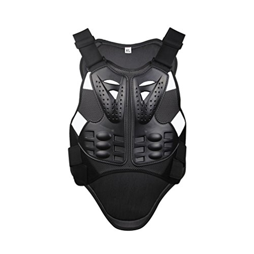 Dexinx Radfahren Skifahren Reiten Skateboard Brust Zurück Spine Protector Weste Anti-Fallen Motorrad Jacke Motocross Body Guard Weste Schwarz XL