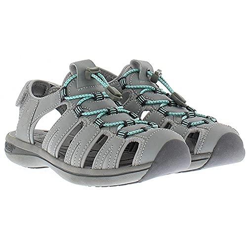 Khombu Sandal Ladies Ashley Active Sandal (8, Grey/Green)