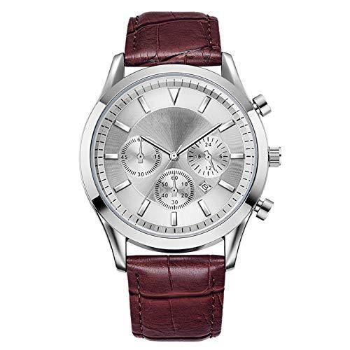 Relojes - Deportes de Negocios y Ocio para Hombres, Reloj de cinturón, Movimiento de Cuarzo, Reloj de Pulsera Impermeable con Calendario, para un Mejor rega C