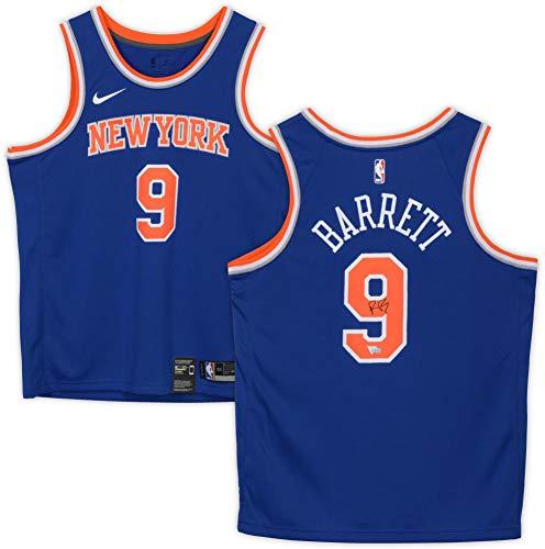 R.J. Barrett New York Knicks Autographed Nike Royal Blue Swingman Jersey - Autographed NBA Jerseys