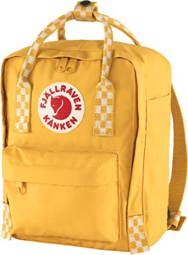 Fjallraven Unisex's Kånken Mini Backpack, Ochre-Chess Pattern, OneSize