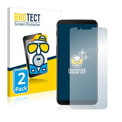 BROTECT 2X Entspiegelungs-Schutzfolie kompatibel mit OnePlus 5T Bildschirmschutz-Folie Matt, Anti-Reflex, Anti-Fingerprint