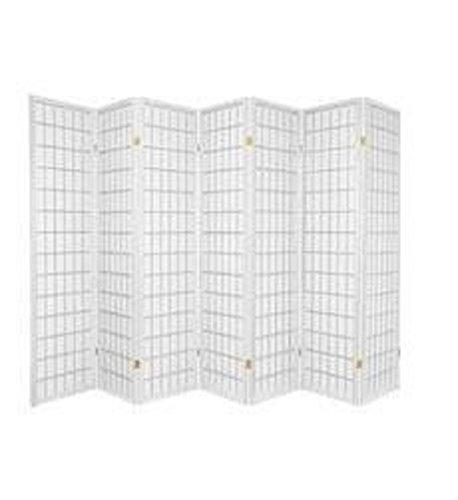 7 Panel Room Divider - White