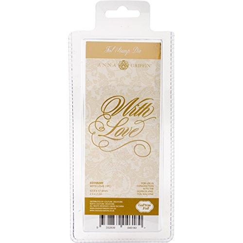Couture creaties met liefde hete folie stempel sterf, metaal, grijs, 22,9 x 9,9 x 0,8 cm