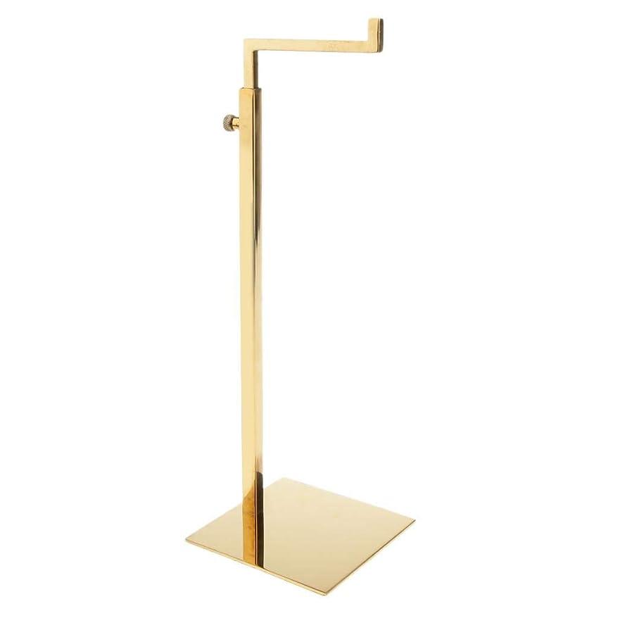 ゲストダーベビルのテス温室SM SunniMix バッグスタンド バッグディスプレイ 方形台座 L字型フック ステンレス 調節可能 全4色 - ゴールド