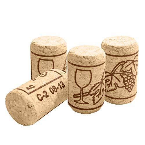 ZJW 50 Stück Weinkorken Flaschenkorken - Bastelkorken - Korken für Wein oder Dekorieren, Kreativ, DIY und Basteln