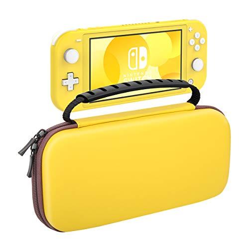 Nintendo Switch Lite ケース ATiC ニンテンドー スイッチライト キャリングケース 収納バッグ EVA素材 耐衝撃 全面保護 軽量 Nintendo Switch Liteコンソール /付属品 /10枚ゲームカード収納 持ち運び便利 Yellow