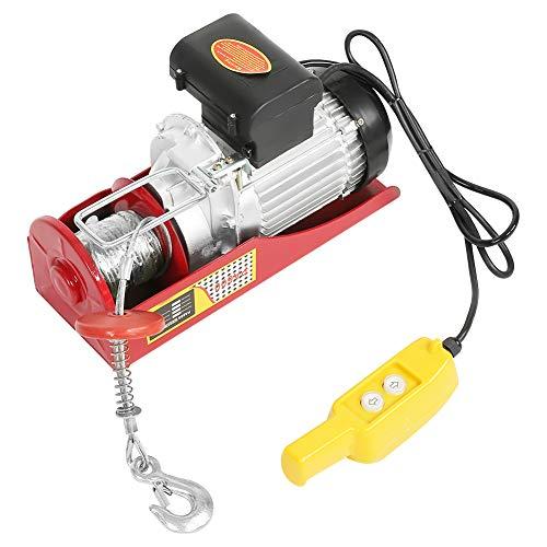 Polipastos eléctricos 300 / 600KG, cabrestante eléctrico 220V Polipasto eléctrico de cable...