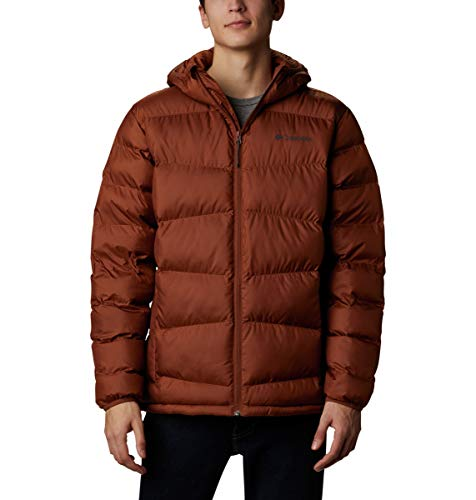 Columbia Men's Fivemile Butte Hooded Jacket, Dark Amber, Large