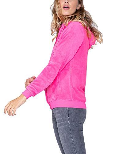 SOCCX Damen Sherpa-Jacke mit Stickereien und Kapuze