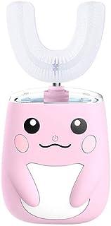 ZZL Tandenborstel voor Kids Kids Elektrische Tandenborstel Oplaadbaar 360° U-vormige Tandenborstels Cartoon Modeling Jonge...