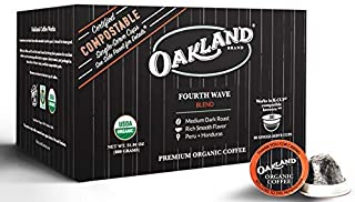 Oakland Coffee Works Fourth Wave Blend, Compostable Single-Serve Organic Coffee, 80 Count