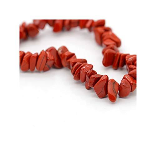 Pulsera Chip de Jaspe Rojo Minerales y Cristales, Belleza energética, Meditacion, Amuletos Espirituales