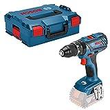 Bosch Professional 18V System Perceuse-visseuse à percussion sans fil GSB 18V-28 (3 batteries 18V 3,0Ah, couple dans les matériaux durs/tendres: 63/28Nm, dans une L-BOXX)
