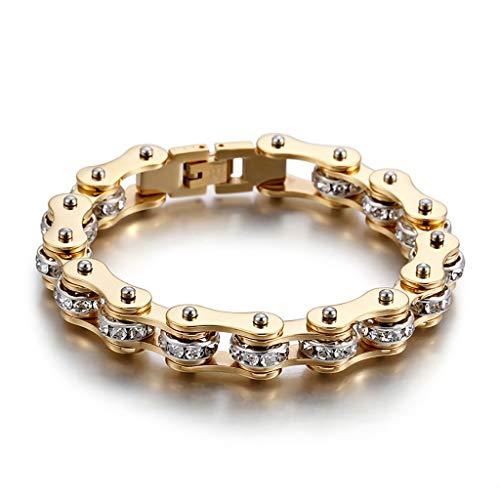 DZLRP Fiets Ketting Armband Rose Goud Armband, Creatieve Retro Titanium Staal Armband RVS Mannen Armband Mode Verjaardagscadeau voor Mannen