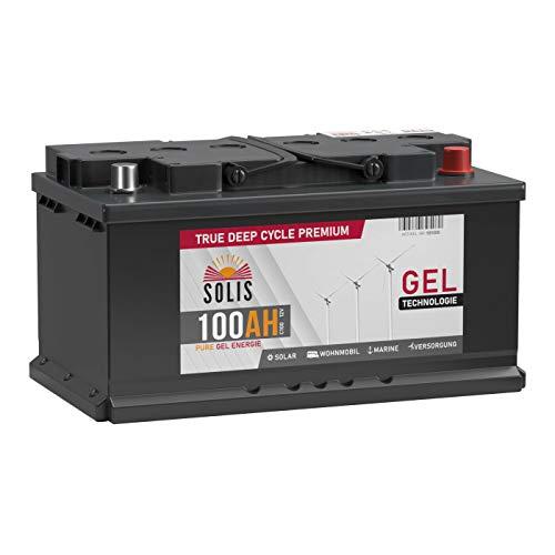 SOLIS Gel Batterie 100AH 12V Solar Boot Wohnmobil Schiff Versorgungs Mover Akku (100AH 12V)